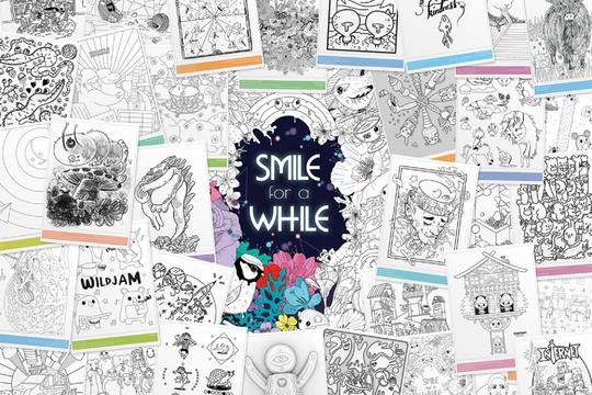 Smile for a While Colouring Book