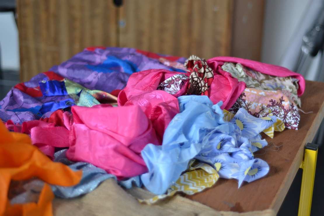Upcycled textiles: brooch making SC17