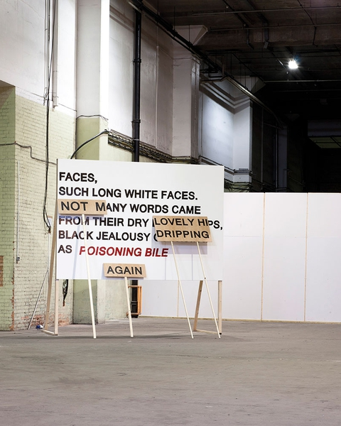 'Faces, such long white faces...(again)', Laure Prouvost + Francesco Pedraglio  , 2011